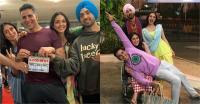 फिल्म ''गुड न्यूज'' की शूटिंग का हुआ ''दी End'', करीना की गोद में लेटे दिखे अक्षय कुमार