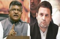 भ्रष्टाचार पर प्रधानमंत्री से चर्चा करने का राहुल को नैतिक अधिकार नहीं : प्रसाद