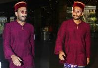 एक बार फिर अजीबोगरीब लुक में नजर आए रणवीर सिंह, टोपी-चश्मे में दिखा रंग-बिरंगा अवतार