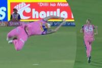 IPL 2019 : बैन स्टोक्स ने हवा में गोता लगाकर पकड़ी कैच ऑफ द टूर्नामैंट, देखें VIDEO