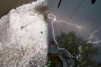 MP में आकाशीय बिजली गिरने से 16 लोगों की मौत, तेज बारिश के साथ गिरे ओले