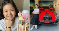 बच्ची ने अपने 12वें जन्मदिन पर खुद को BMW कार की गिफ्ट
