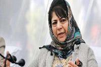 सत्ता पाने के लिए भाजपा बना रही है कश्मीर को बलि का बकरा: महबूबा