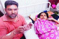 गर्भवती महिला व उसके पति ने उच्चधिकारियों से लगाई न्याय की गुहार