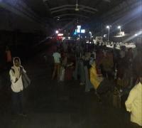 सिटी रेलवे स्टेशन पर बत्ती गुल होने से हुआ ब्लैक आऊट