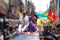 LokSabha Elections 2019: झांसी में शुरु हुआ प्रियंका गांधी का रोड शो