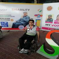 Wheelchair Games में होनहार विपिन ने जीता सिल्वर और ब्रांज मेडल (PICS)