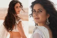 ''भारत'' लिख कैटरीना ने शेयर की तस्वीरें, व्हाइट लहंगे में दिखीं बला की खूबसूरत