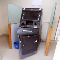 केनरा बैंक का ATM लूटने का प्रयास, CCTV में कैद हुए लुटेरे