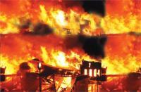 कपड़ों की फैक्ट्री में आग: लाखों का माल जला, कार भी खाक
