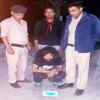 21 ग्राम Heroin के साथ एक काबू, पुलिस को गश्त के दौरान मिली सफलता