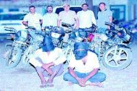बाइक चोर गिरोह के 2 सदस्य अरैस्ट, 6 वारदातों का खुलासा