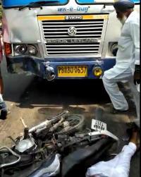 PRTC बस ने बाइक सवारों को मारी टक्कर,मौत