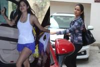Gym Look:शाॅर्ट्स में जाह्नवी और ग्लैमरस अंदाज में दिखीं शाहिद की पत्नी मीरा