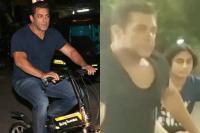 Video: देर रात भतीजे संग सड़कों पर साइकिलिंग करते दिखे सलमान, गर्लफ्रेंड भी आई नजर