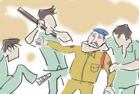 भगौड़े को पकडऩे के लिए पहुंची पी.ओ. स्टाफ की टीम पर हुआ हमला