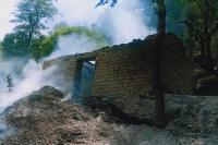 गऊशाला राख, जिंदा जले मवेशी,50 हजार का नुक्सान