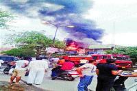 दुकान में शॉर्ट-सर्किट से लगी आग, लाखों का नुक्सान