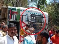 मंडी जा रही HRTC की बस दुर्घटनाग्रस्त, 40 यात्रियों की अटकी सांसें (Video)