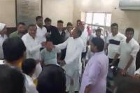 गन्नौर नगर पालिका चेयरमैन पद के चुनाव को लेकर जमकर हुआ हंगामा
