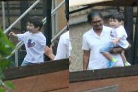 नैनी के साथ बांद्रा में स्पाॅट हुए तैमूर, मस्ती करते की क्यूट तस्वीरें आईं सामने