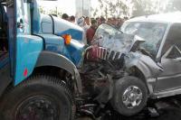 दर्दनाक हादसा: ट्रक और स्कॉर्पियो की भीषण टक्कर, 3 की मौत 3 घायल