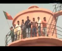 पार्टी में खुद की उपेक्षा होने से नाराज होकर टंकी पर चढ़े BJP कार्यकर्ता