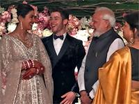 प्रियंका निक के रिसेप्शन में पहुंचेप्रधानमंत्री नरेंद्र मोदी, दी बधाई
