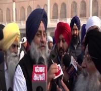 सुखबीर बादल ने मीडिया के सवालों पर साधी चुप्पी (Watch Video)