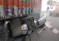 दर्दनाक हादसाः तीन वाहनों की जोरदार टक्कर में 4 लोगों की मौत
