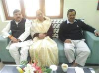 अपना दल की अध्यक्ष कृष्णा पटेल ने की दिल्ली के CM से मुलाकात
