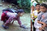 ये लड़का रोजाना 3 किमी हाथ के सहारे चलकर जाता है स्कूल, वीडियो वायरल