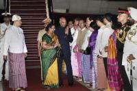 उच्च स्तरीय अनुबंधों के लिए म्यांमार पहुंचे राष्ट्रपति रामनाथ कोविंद