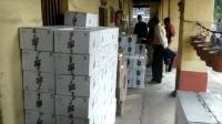 पुलिस चेकिंग के दौरान 500 पेटी विदेशी शराब बरामद