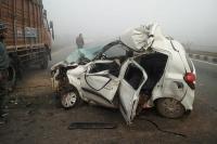 भयंकर सड़क हादसे में दो की मौत, दो घायल, पुलिस भर्ती की परीक्षा देने जा रहे थे युवक