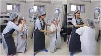 डिलीवरी से कुछ मिनट पहले गर्भवती ने डॉक्टर के साथ जमकर किया डांस, देखें वीडियो