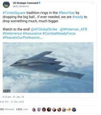 नए साल पर अमेरिकी सेना ने दी बम गिराने की धमकी, लोगों ने ऐेसे उड़ाया मजाक