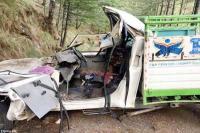 दर्दनाक हादसा : आलुओं से भरी पिकअप जीप पेड़ से टकराई, 3 की मौत-एक घायल