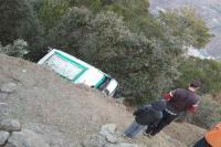 पनारसा से नाऊ मार्ग पर टै्रवलर गिरी, 10 जख्मी