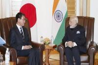 जापानी विदेश मंत्री ने मोदी से की मुलाकात