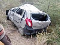ठियोग में दर्दनाक हादसा : 200 फुट गहरी खाई में गिरी कार, 2 की मौत