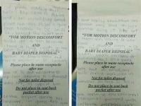 विमान में सिकनेस बैग पर लिखा लव लेटर वायरल, writer लड़की की हो रही तलाश