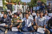 असम में नागरिकता विधेयक के खिलाफ प्रदर्शन जारी