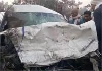 नेशनल हाइवे पर 2 कारों की जोरदार टक्कर, हादसे में 4 लोगों की मौत