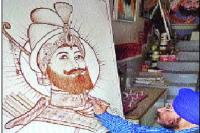खून से बनाया श्री गुरु गोबिंद सिंह जी का चित्र