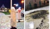 मक्का की प्रसिद्ध मस्जिद में टिड्डों का हमला, तस्वीरें वायरल