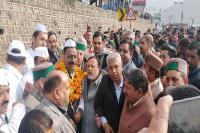 हिमाचल कांग्रेस अध्यक्ष बनने के बाद पहली बार सोलन पहुंचे कुलदीप राठौर, हुआ भव्य स्वागत(PICS)