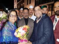 कांग्रेस प्रभारी रजनी पाटिल पहुंचीं शिमला, राठौर ने किया स्वागत