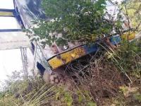 बी.बी.एन. में HRTC बस पहाड़ी से लुढ़कने से बची,बड़ा हादसा टला