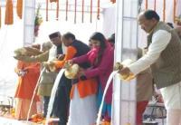 सपरिवार संगम तट पर गंगा आरती में शामिल हुए राष्ट्रपति रामनाथ कोविंद
